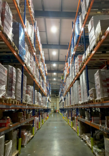 Chiller warehouse reconfiguration, energy efficient lighting